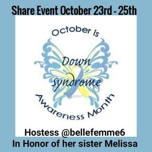7 SPOTS LEFT Share Event October Down Syndrome